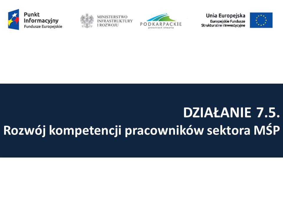DZIAŁANIE 7.5. Rozwój kompetencji pracowników sektora MŚP