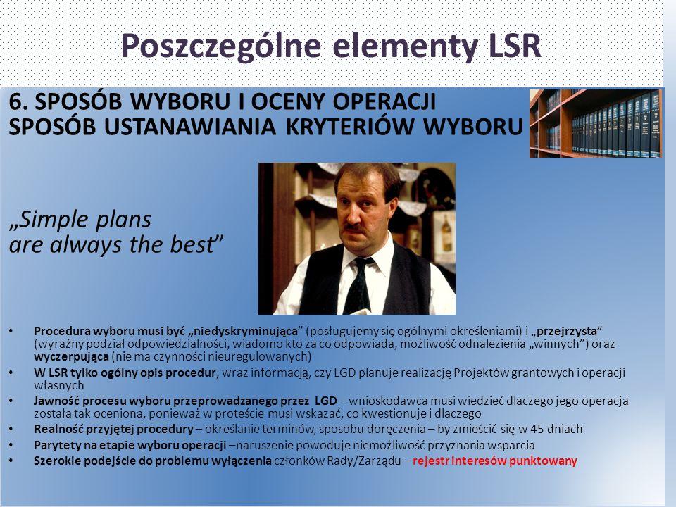 Poszczególne elementy LSR 6.
