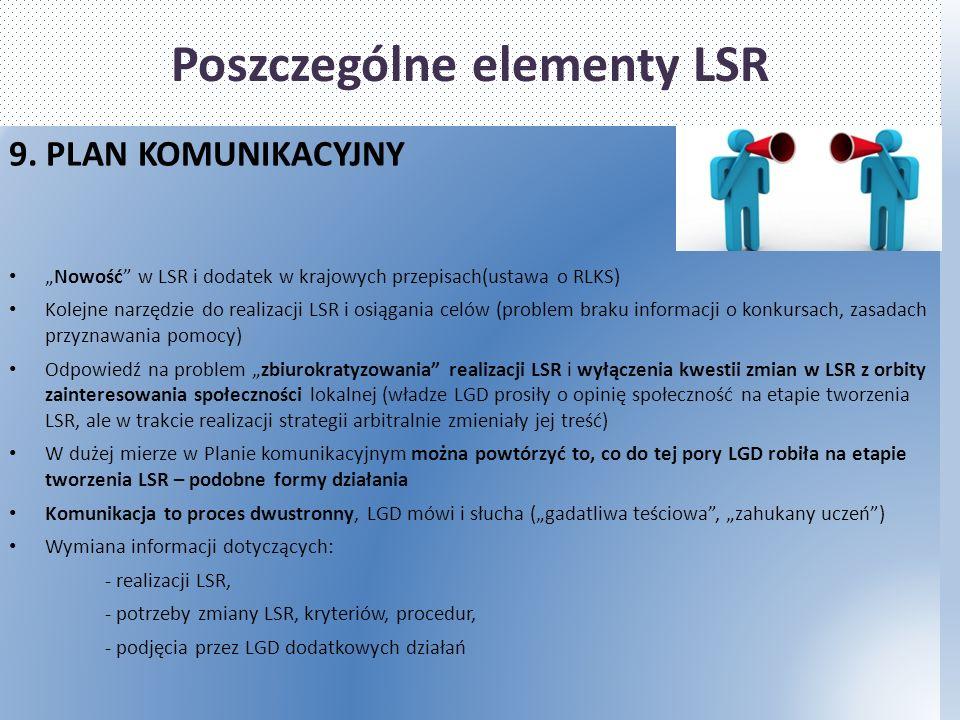 Poszczególne elementy LSR 9.