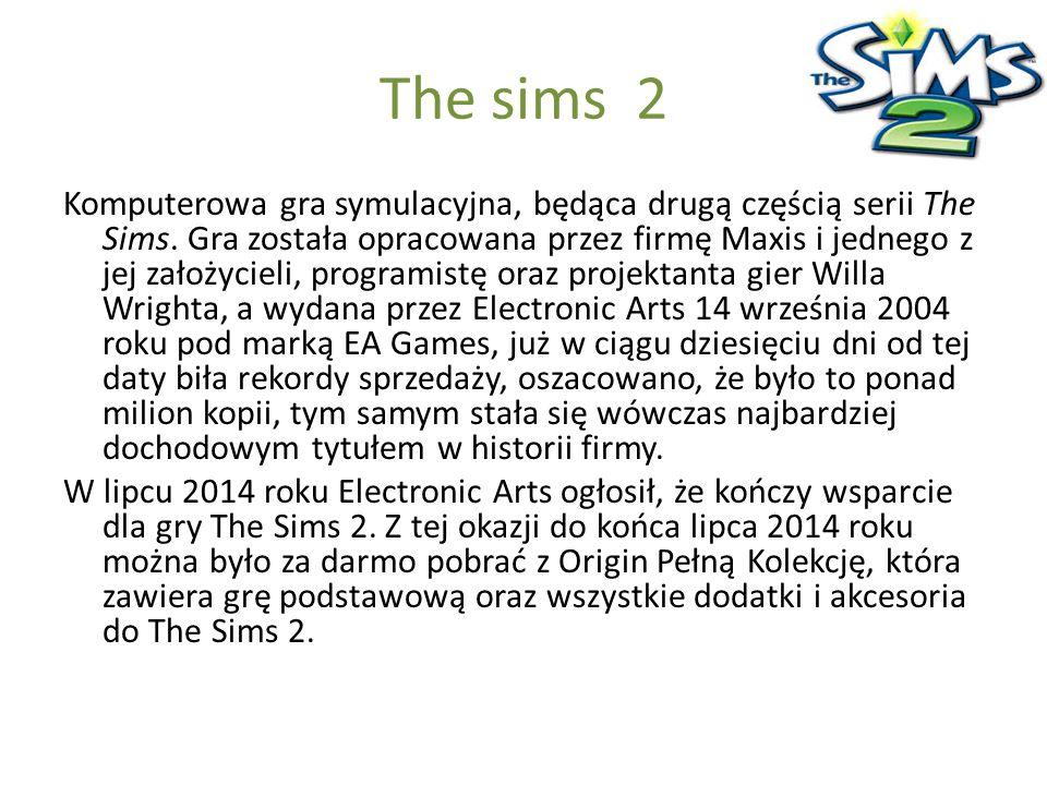 The sims 2 Komputerowa gra symulacyjna, będąca drugą częścią serii The Sims. Gra została opracowana przez firmę Maxis i jednego z jej założycieli, pro