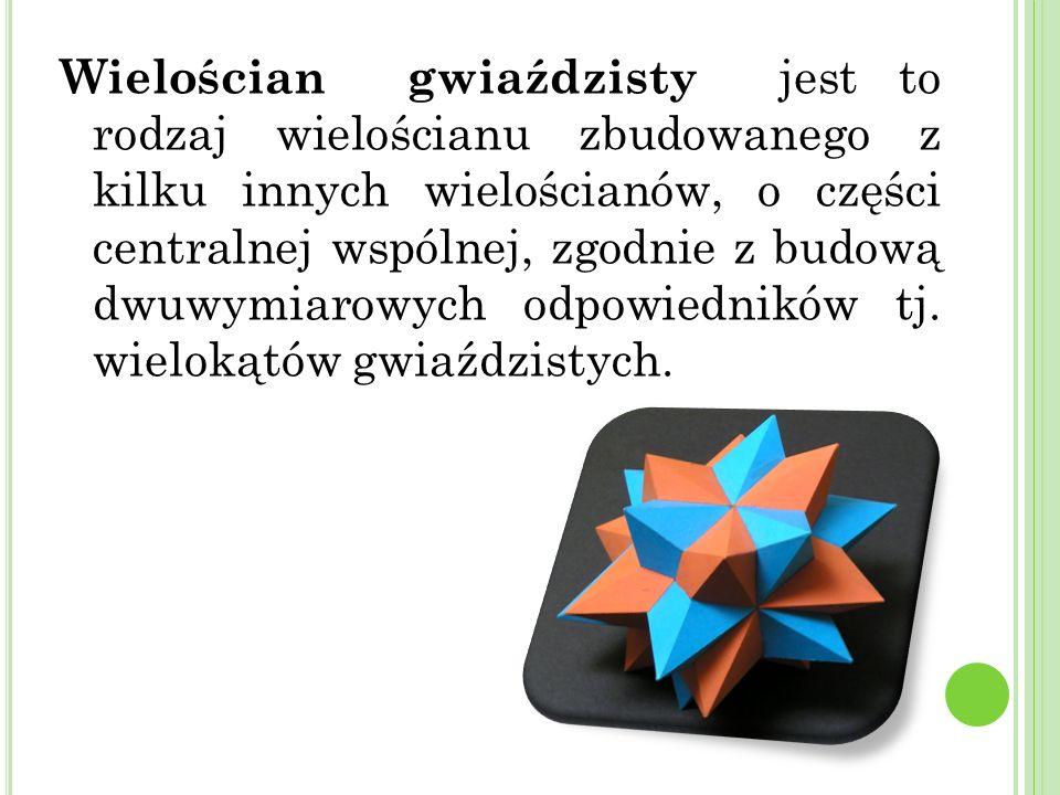 Wielościan gwiaździsty jest to rodzaj wielościanu zbudowanego z kilku innych wielościanów, o części centralnej wspólnej, zgodnie z budową dwuwymiarowych odpowiedników tj.