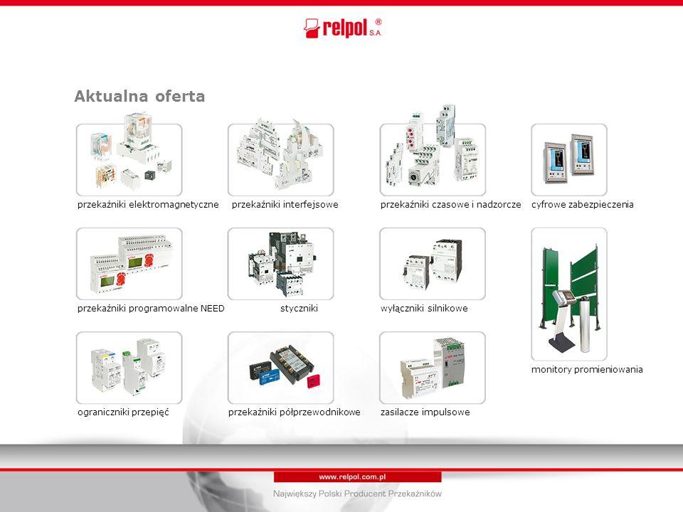 Aktualna oferta przekaźniki elektromagnetyczneprzekaźniki interfejsoweprzekaźniki czasowe i nadzorczecyfrowe zabezpieczenia przekaźniki programowalne NEED styczniki wyłączniki silnikowe monitory promieniowania ograniczniki przepięć przekaźniki półprzewodnikowe zasilacze impulsowe