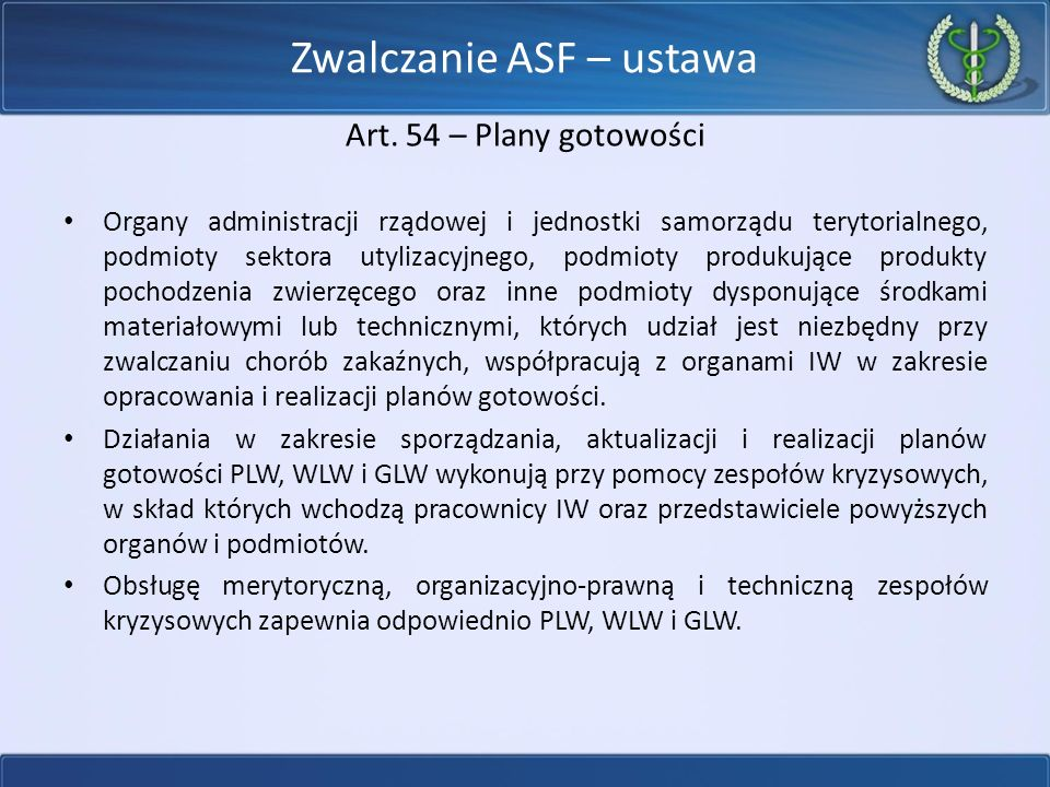 Zwalczanie ASF – ustawa Art.
