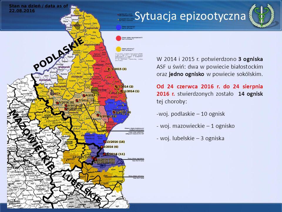 Sytuacja epizootyczna W 2014 i 2015 r.