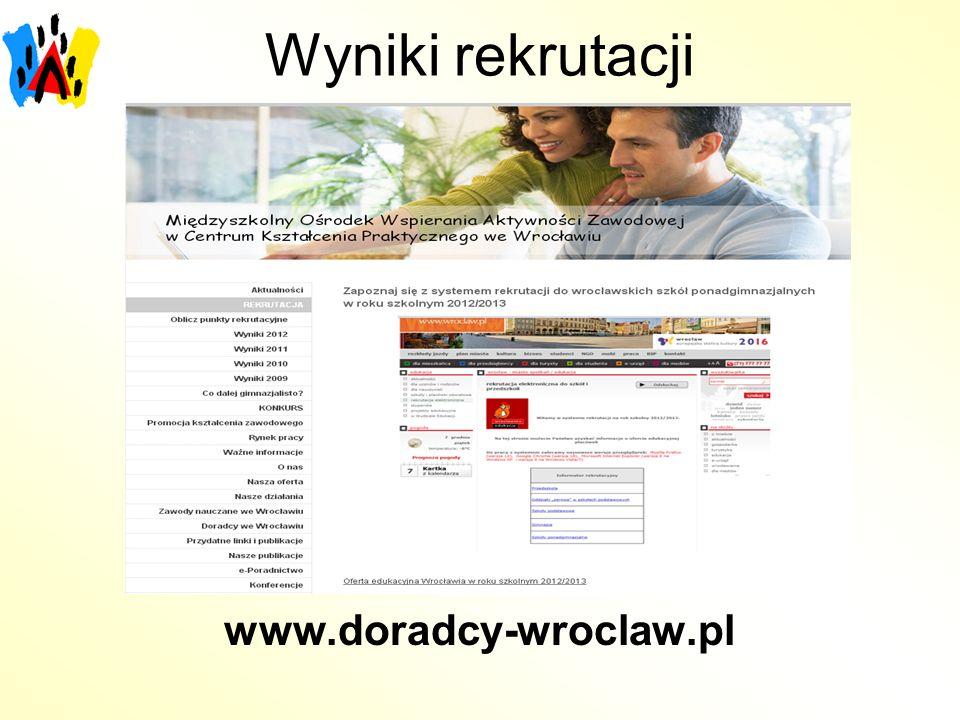 Wyniki rekrutacji www.doradcy-wroclaw.pl