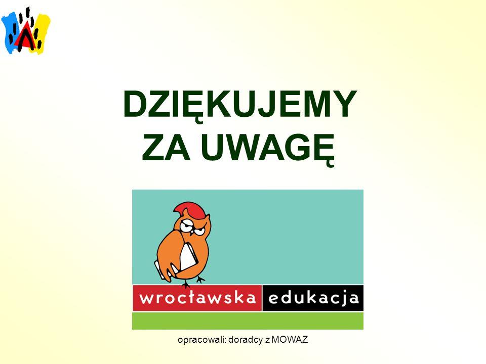 opracowali: doradcy z MOWAZ DZIĘKUJEMY ZA UWAGĘ