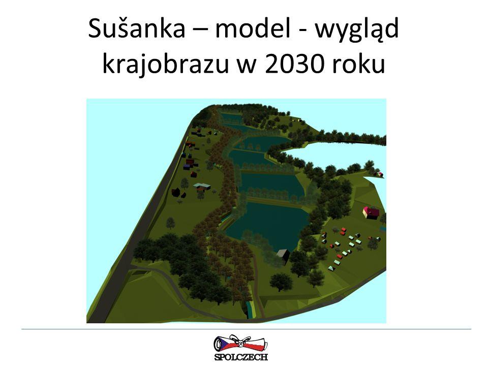 Sušanka – model - wygląd krajobrazu w 2030 roku