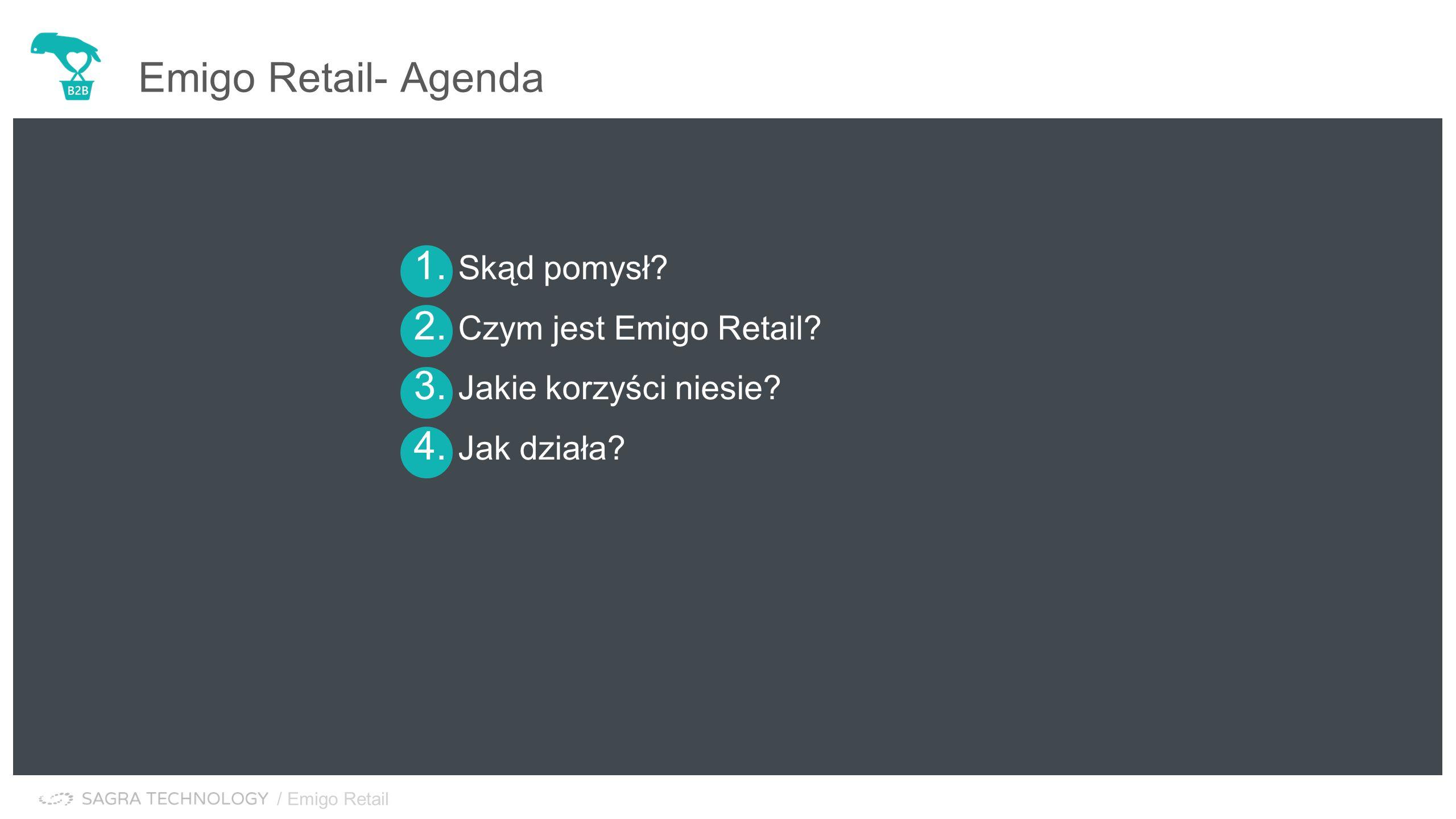 / Emigo Retail Emigo Retail- Agenda 1. Skąd pomysł.