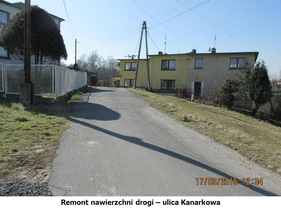 Remont nawierzchni drogi – ulica Kanarkowa