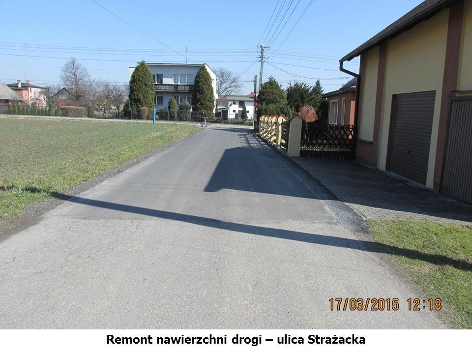 Remont nawierzchni drogi – ulica Strażacka