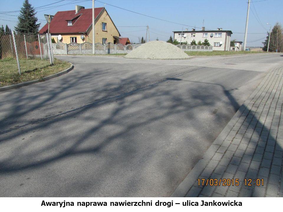 Awaryjna naprawa nawierzchni drogi – ulica Jankowicka