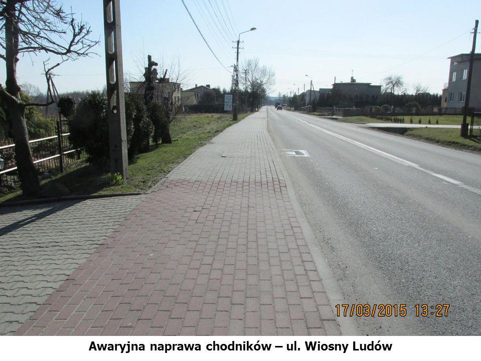 Awaryjna naprawa chodników – ul. Wiosny Ludów