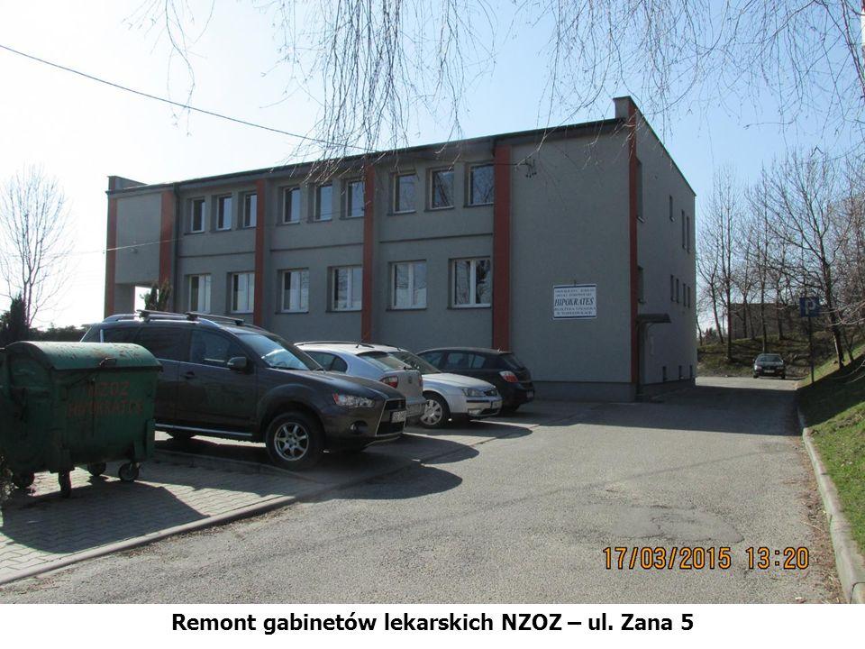 Remont gabinetów lekarskich NZOZ – ul. Zana 5