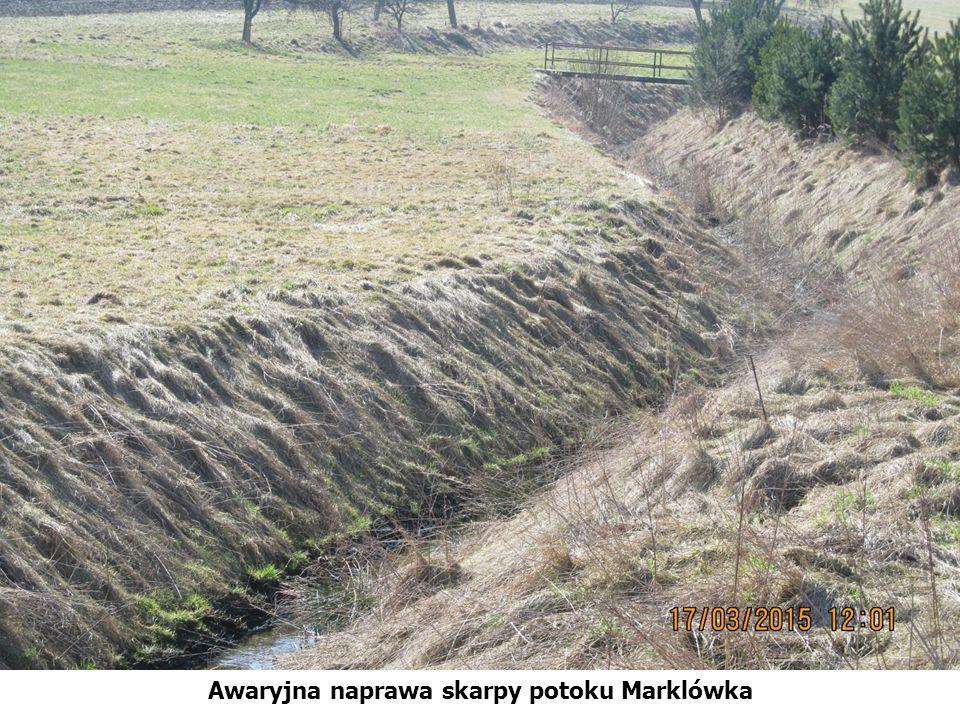 Awaryjna naprawa skarpy potoku Marklówka