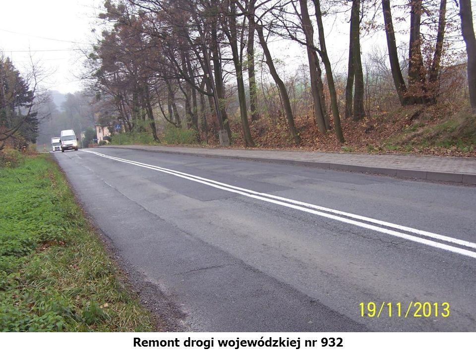 Remont drogi wojewódzkiej nr 932