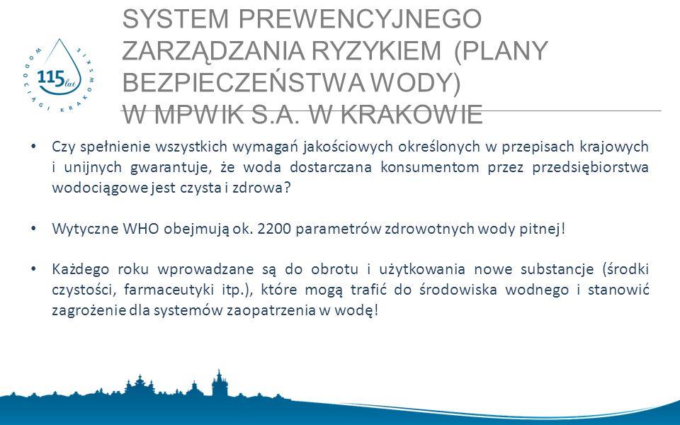 SYSTEM PREWENCYJNEGO ZARZĄDZANIA RYZYKIEM (PLANY BEZPIECZEŃSTWA WODY) W MPWIK S.A. W KRAKOWIE