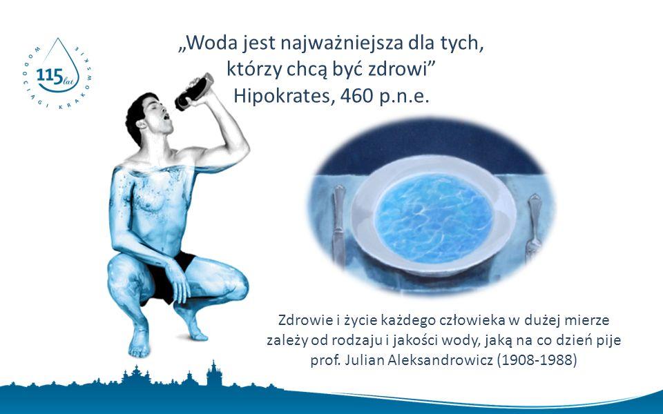 """""""Woda jest najważniejsza dla tych, którzy chcą być zdrowi Hipokrates, 460 p.n.e."""