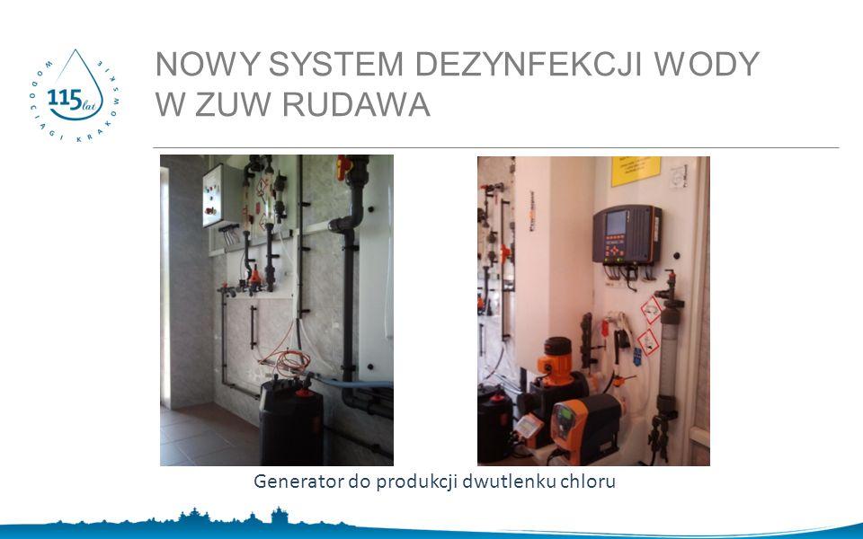 NOWY SYSTEM DEZYNFEKCJI WODY W ZUW RUDAWA Generator do produkcji dwutlenku chloru