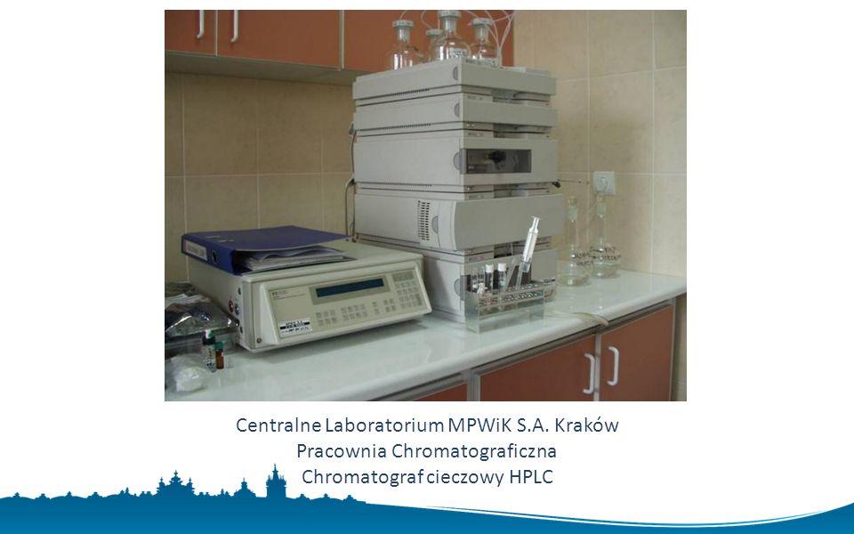 Centralne Laboratorium MPWiK S.A. Kraków Pracownia Chromatograficzna Chromatograf cieczowy HPLC