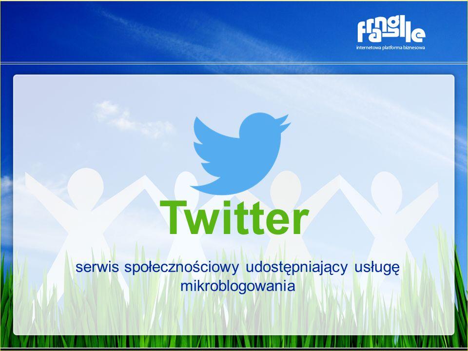 Twitter serwis społecznościowy udostępniający usługę mikroblogowania