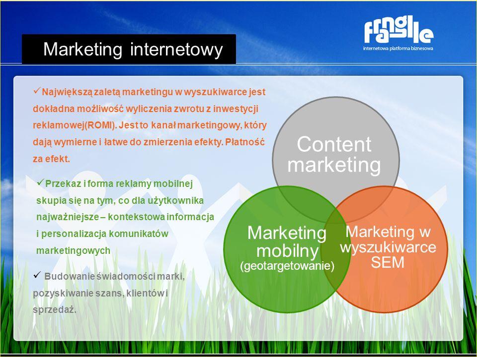 Największą zaletą marketingu w wyszukiwarce jest dokładna możliwość wyliczenia zwrotu z inwestycji reklamowej(ROMI). Jest to kanał marketingowy, który