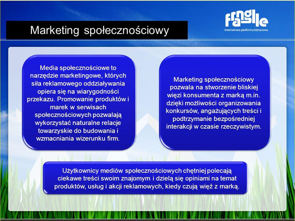 Media społecznościowe to narzędzie marketingowe, których siła reklamowego oddziaływania opiera się na wiarygodności przekazu. Promowanie produktów i m