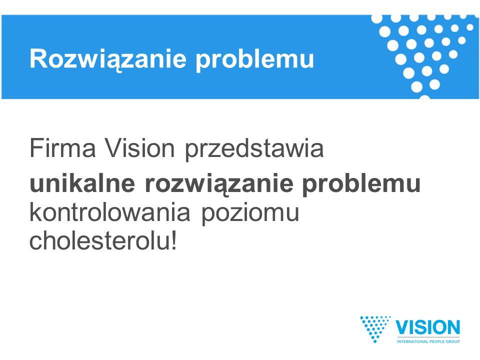 Firma Vision przedstawia unikalne rozwiązanie problemu kontrolowania poziomu cholesterolu .