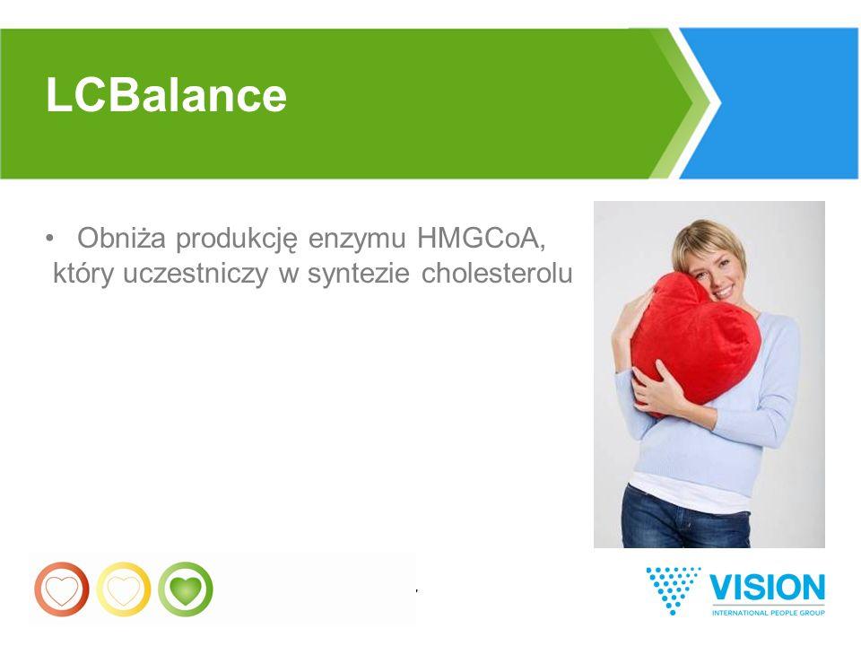 37 Obniża produkcję enzymu HMGCoA, który uczestniczy w syntezie cholesterolu LCBalance