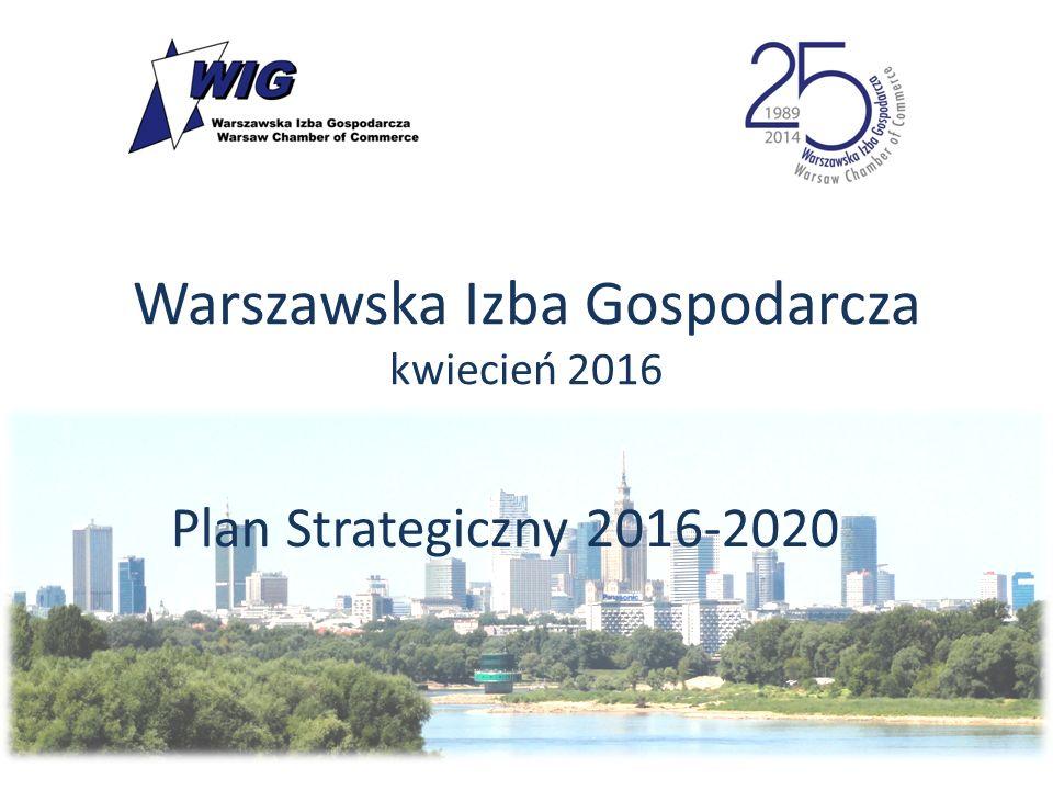 Warszawska Izba Gospodarcza kwiecień 2016 Plan Strategiczny 2016-2020