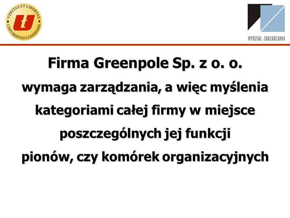 W zarządzaniu firmą Greenpole Sp.z o. o. Greenpole Sp.