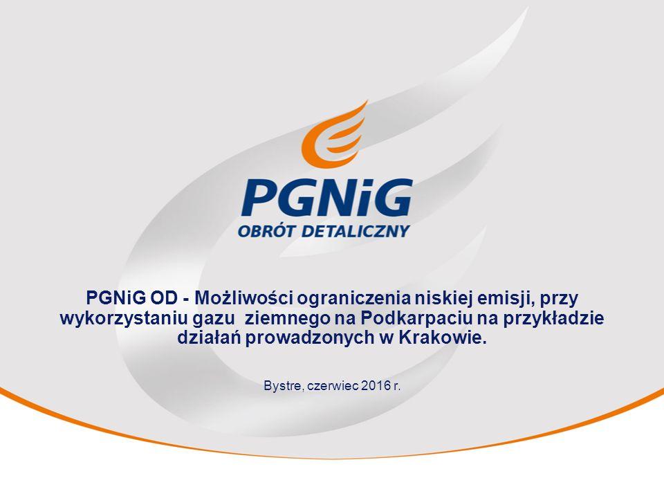 PGNiG OD - Możliwości ograniczenia niskiej emisji, przy wykorzystaniu gazu ziemnego na Podkarpaciu na przykładzie działań prowadzonych w Krakowie.