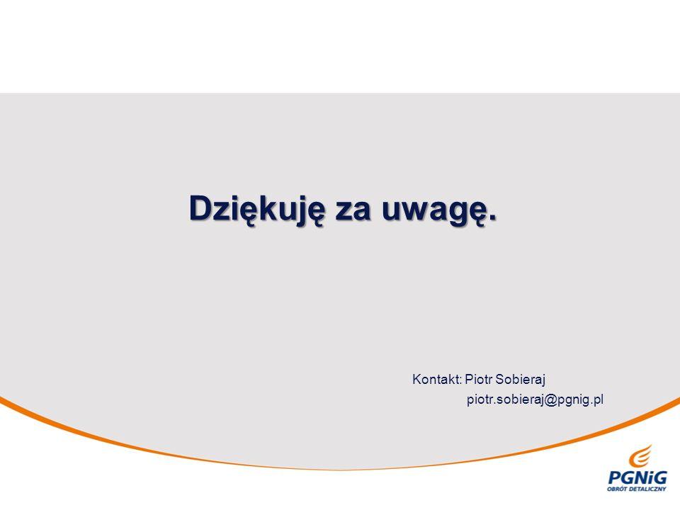 Dziękuję za uwagę. Kontakt: Piotr Sobieraj piotr.sobieraj@pgnig.pl