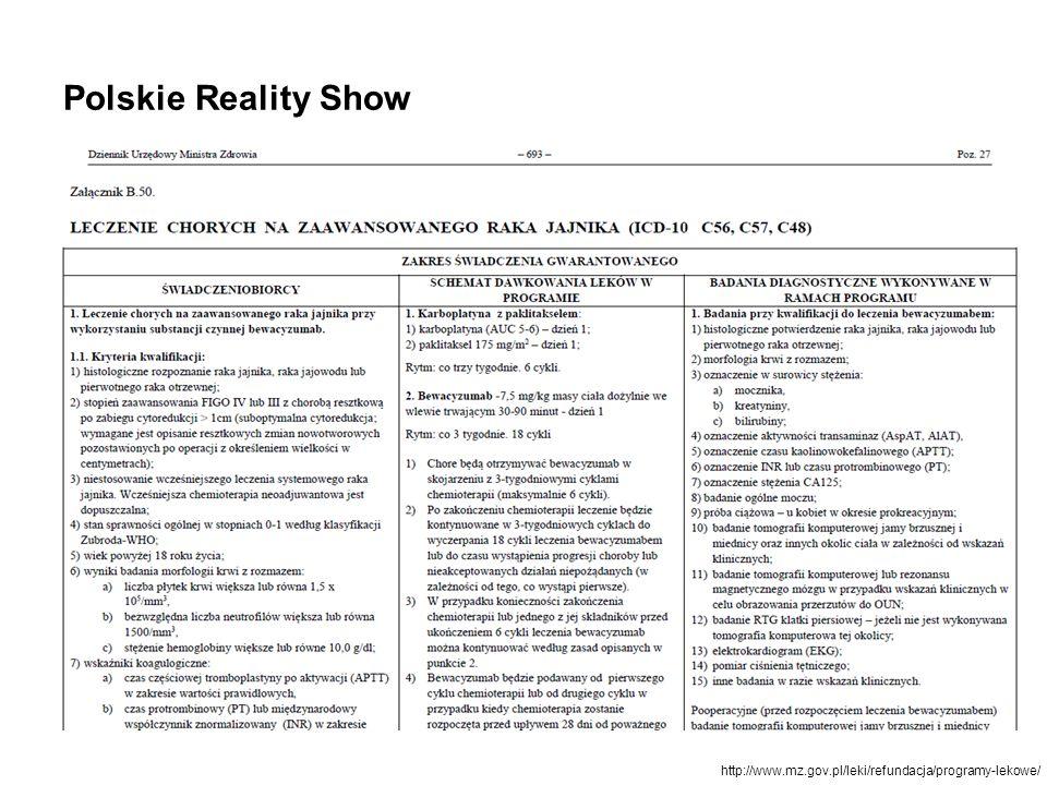 Polskie Reality Show http://www.mz.gov.pl/leki/refundacja/programy-lekowe/