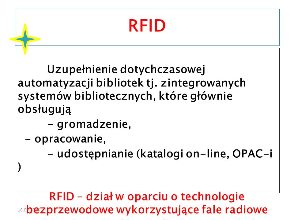 18.09.2016 ISO/IEC 18000 - Information technology - Radio frequency identification for item management Arkusz 3: Parameters for air interface communication at 13,56 MHz Wcześniejsza norma