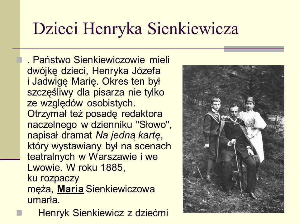 Po powrocie do Polski Po powrocie do Polski Sienkiewicz wygłaszał referaty na temat swojego pobytu w Stanach Zjednoczonych.