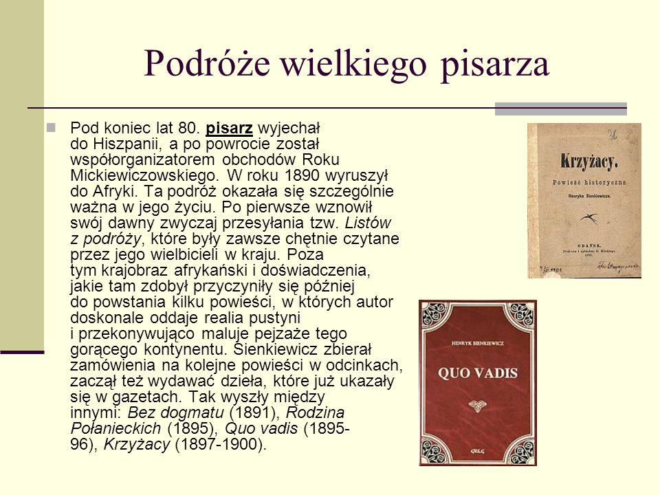 Pan Wołodyjowski Po powrocie do Polski oddał do druku ostatnią część Trylogii, a mianowicie powieśćPan Wołodyjowski, która rozwiązywała losy bohaterów