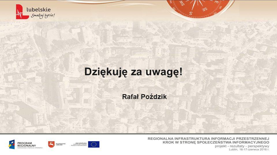 Dziękuję za uwagę! Rafał Poździk