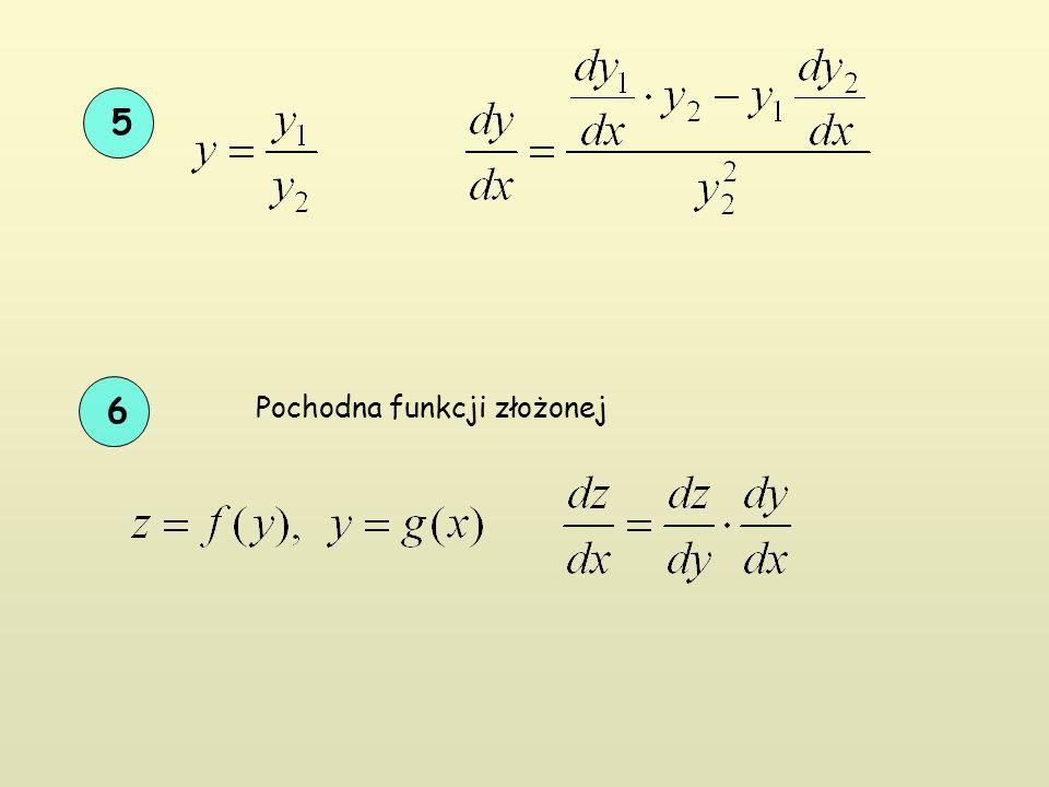 5 6 Pochodna funkcji złożonej