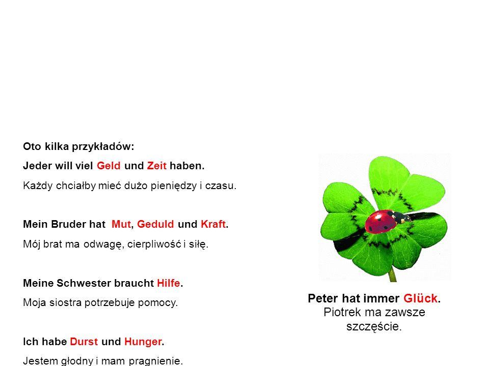 Abstrakty – przykłady A oto lista znanych i najczęściej używanych abstraktów w języku niemieckim.