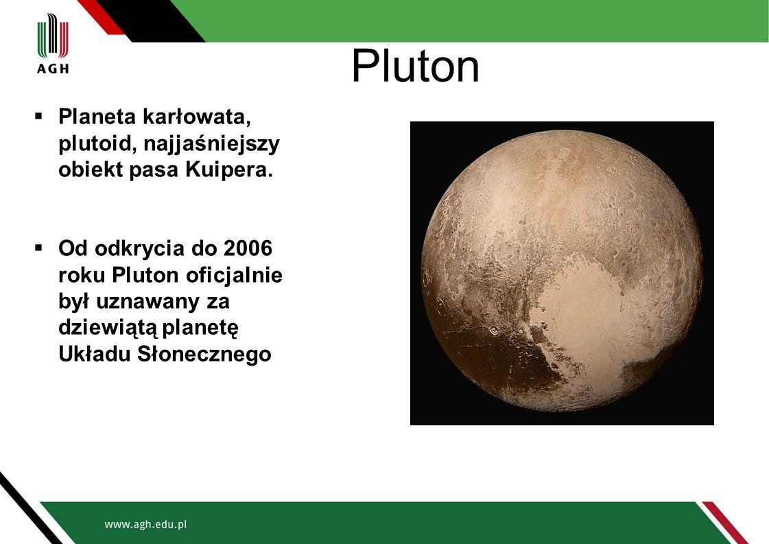 Pluton  Planeta karłowata, plutoid, najjaśniejszy obiekt pasa Kuipera.