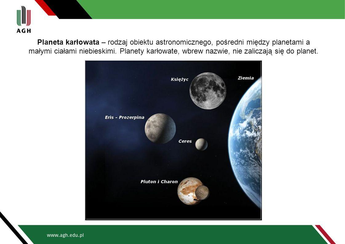 Planeta karłowata – rodzaj obiektu astronomicznego, pośredni między planetami a małymi ciałami niebieskimi.