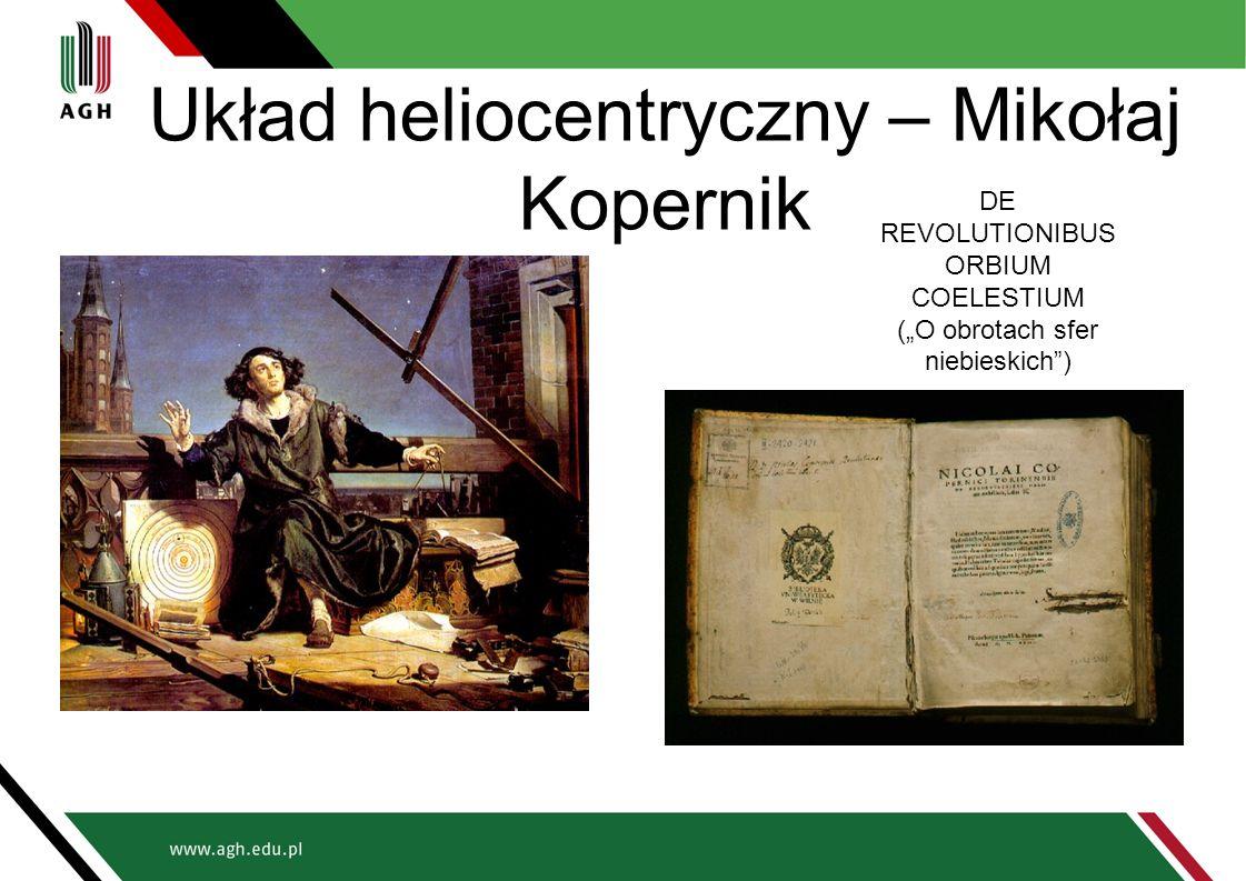 """Układ heliocentryczny – Mikołaj Kopernik DE REVOLUTIONIBUS ORBIUM COELESTIUM (""""O obrotach sfer niebieskich )"""
