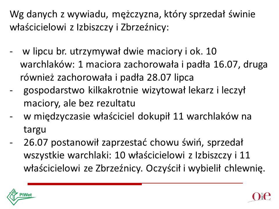 Wg danych z wywiadu, mężczyzna, który sprzedał świnie właścicielowi z Izbiszczy i Zbrzeźnicy: - w lipcu br.
