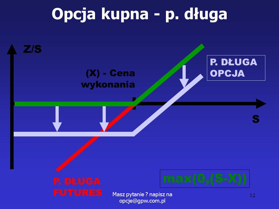 Masz pytanie . napisz na opcje@gpw.com.pl 12 Opcja kupna - p.