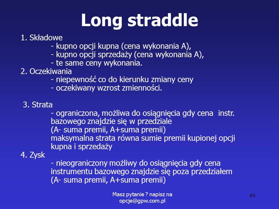 Masz pytanie . napisz na opcje@gpw.com.pl 60 Long straddle 1.
