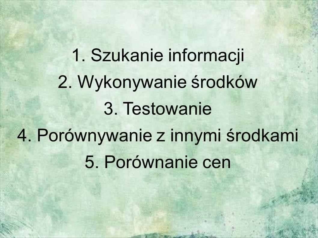 1. Szukanie informacji 2. Wykonywanie środków 3.