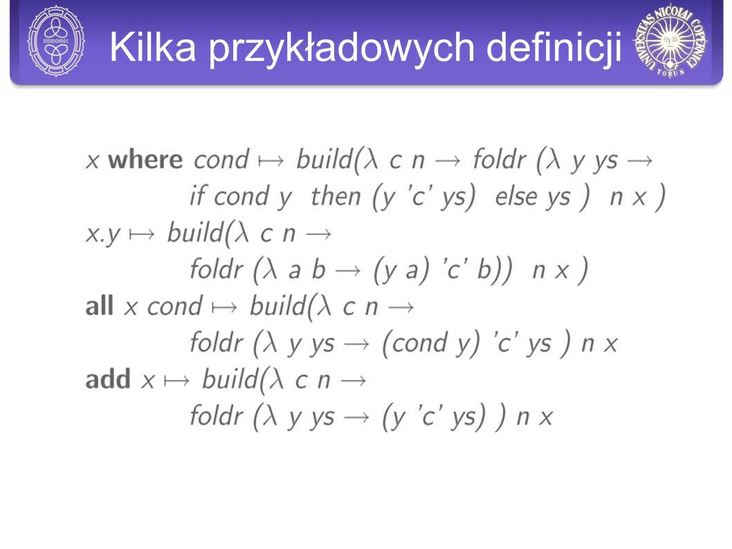 Kilka przykładowych definicji