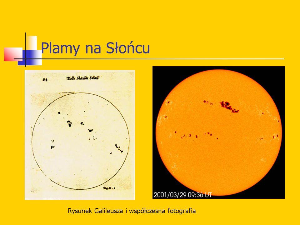 Plamy na Słońcu Rysunek Galileusza i współczesna fotografia