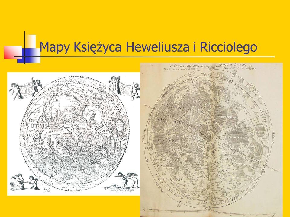 Mapy Księżyca Heweliusza i Ricciolego