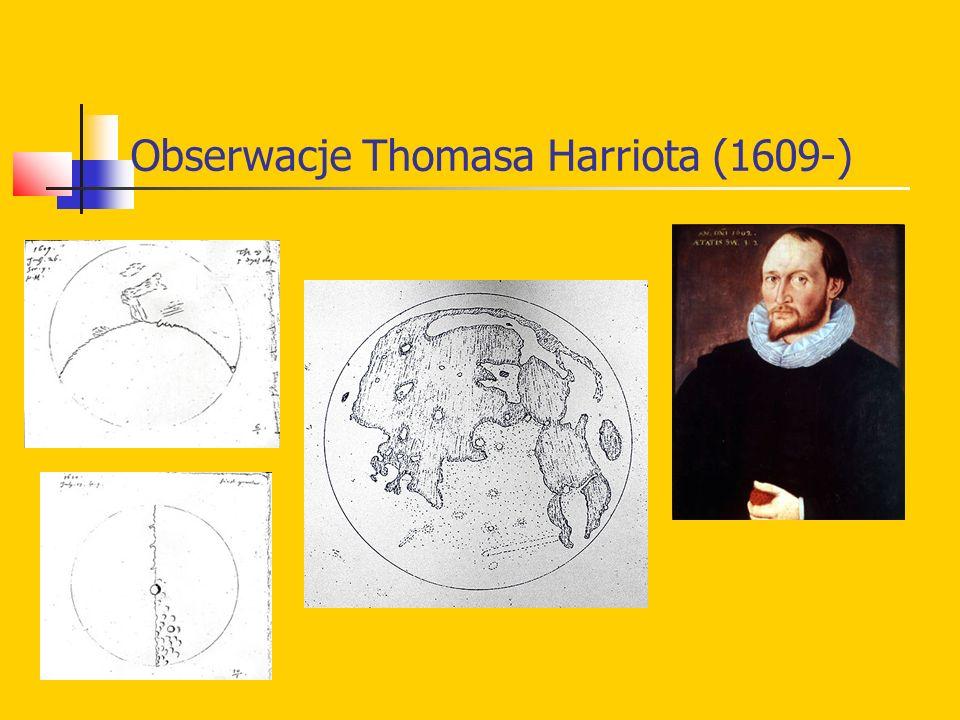Obserwacje Thomasa Harriota (1609-)
